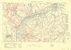 Trench Maps of the Battle Front in France and Belgium,  Beaumont